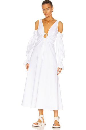 Rosie Assoulin Women Midi Dresses - Cold Shoulder Bell Cuff Dress in