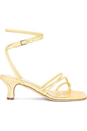 PARIS TEXAS Betty Buckle Sandal in Yellow