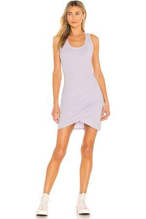 Bobi Supreme Jersey Dress in Lavender.