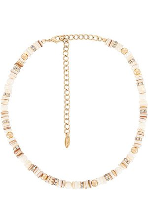Ettika Women Necklaces - Pearl Beaded Necklace in Metallic .