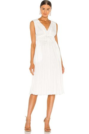 REBECCA TAYLOR Sleeveless Broomstick Pleating Dress in .