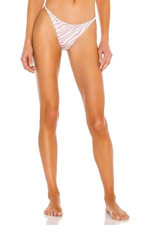 BOAMAR Page Bikini Bottom in Pink,White.