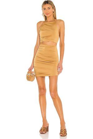 Lovers + Friends Kris Mini Dress in Tan.