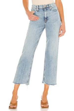 Hudson Remi High Rise Straight Cropped in Blue.