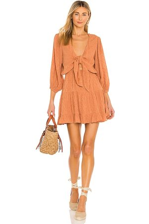 L*Space Stay Golden Dress in Brown.