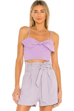 Susana Monaco Bow Front Crop Top in .