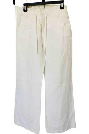Emanuel Ungaro \N Linen Trousers for Women