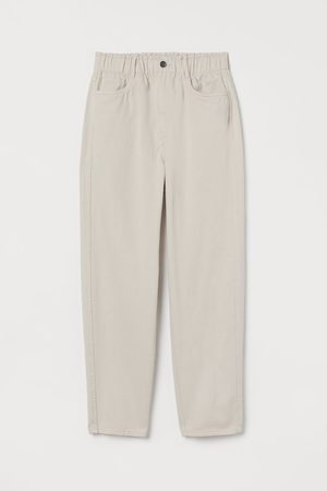 H&M High Waist Twill Pants