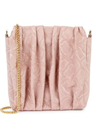 Elleme Square Vague python-effect suede shoulder bag