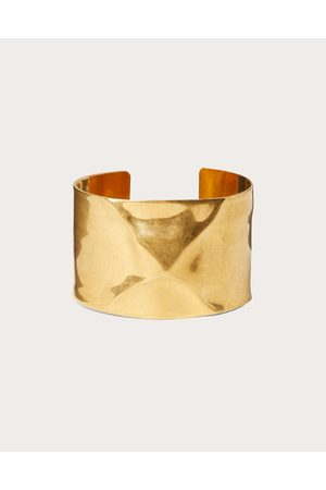 VALENTINO GARAVANI Women Bracelets - Roman Stud Hammered-effect Metal Bracelet Women Antique Brass Brass 100% L