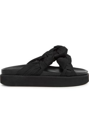 Ganni Satin flatform sandals