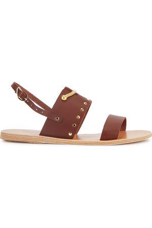 Ancient Greek Sandals Siriti Sergiani dark leather sandals