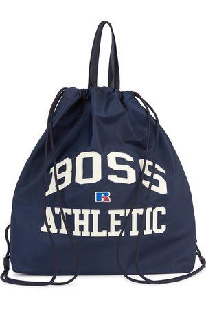 HUGO BOSS X Russell Athletic navy nylon tote