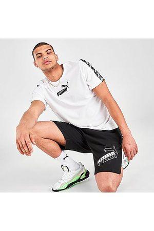 PUMA Men's Big Logo Outline Fleece Shorts in / Size Small Cotton/Polyester/Fleece