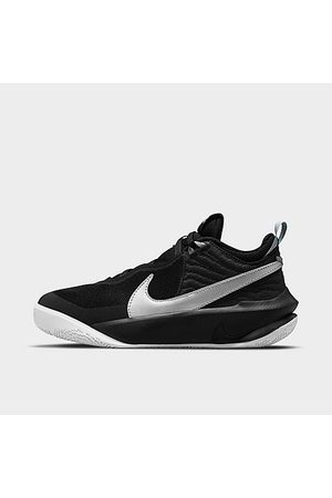 Nike Big Kids' Team Hustle D 10 Basketball Shoes in / Size 3.5 Leather