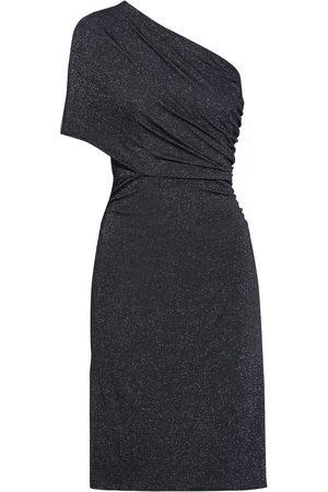 Halston Heritage Woman One-shoulder Metallic Stretch-jersey Mini Dress Size S