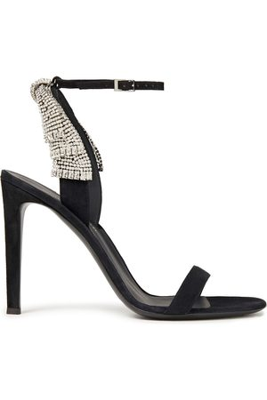 Giuseppe Zanotti Woman Crystal-embellished Suede Sandals Size 36