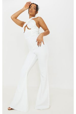PRETTYLITTLETHING Cross Bust Underwired Flare Jumpsuit