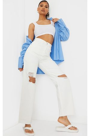 PRETTYLITTLETHING Cargo Distressed Baggy Jeans