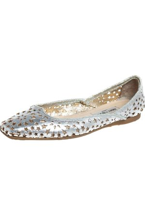 Jimmy Choo Leather Laser Cut Ballet Flats Size 41