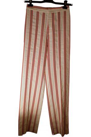 Stella Jean \N Linen Trousers for Women