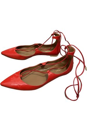 Aquazzura Women Ballerinas - \N Patent leather Ballet flats for Women