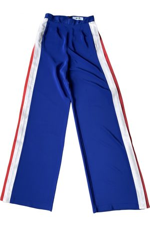 Msgm \N Silk Trousers for Women