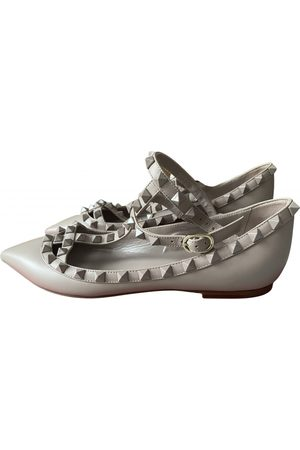 VALENTINO GARAVANI Women Ballerinas - Rockstud Leather Ballet flats for Women