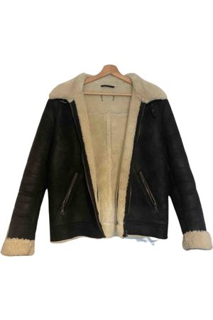 SHEARLING \N Leather Jacket for Men