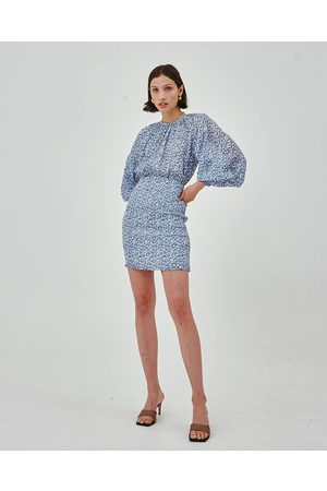 C/meo Collective Ivory & Tie Dye Parity Dress
