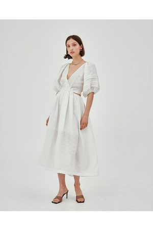 C/meo Collective Ivory Short Sleeve Disperse Dress