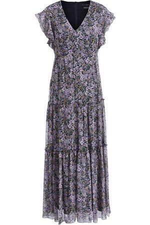 SET Set Dress Maxi in Black Violet Floral mix 72299