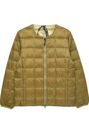TAION Crew Neck Zip Down Jacket - Beige