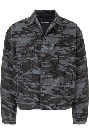 Balenciaga Denim jacket printed camouflage