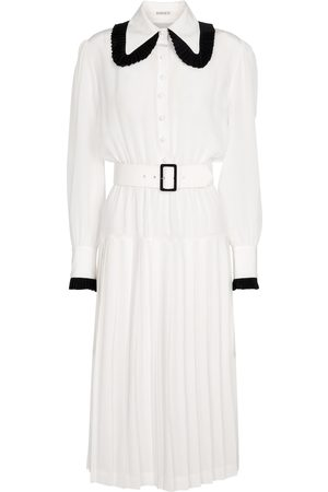 RODARTE Belted silk midi dress