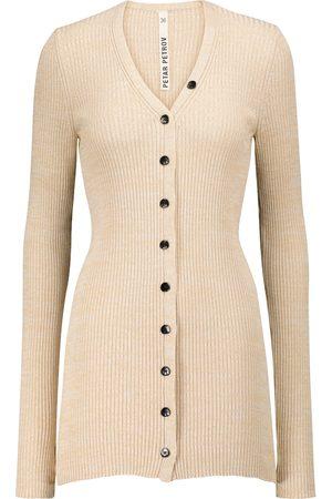 PETAR PETROV Eliza ribbed-knit silk cardigan