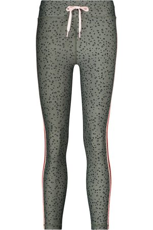 The Upside Teeny leopard-print cropped leggings