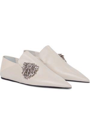 Jil Sander Embellished leather loafers
