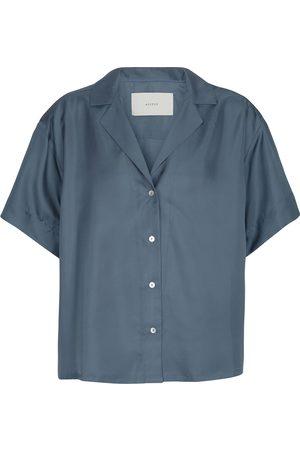 ASCENO Prague silk twill shirt