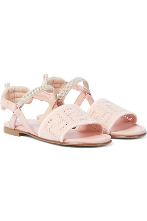 Fendi FF leather sandals