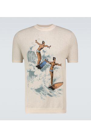 Casablanca Les Garçons jacquard knitted T-shirt