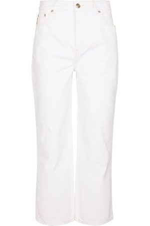Ganni High-rise cropped jeans