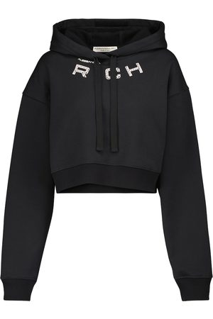 Alessandra Rich Embellished cotton-blend hoodie