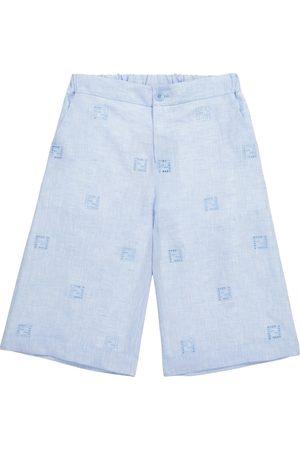 Fendi FF linen Bermuda shorts