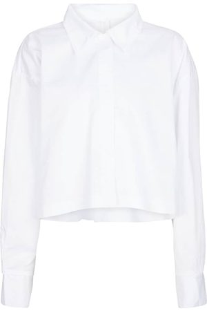Norma Kamali Women Long sleeves - Cropped cotton shirt