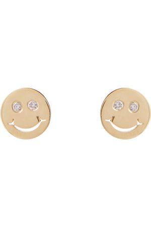 Sydney Evan Women Earrings - Happy Face 14kt and diamond earrings