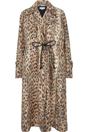 Victoria Beckham Leopard-print trench coat