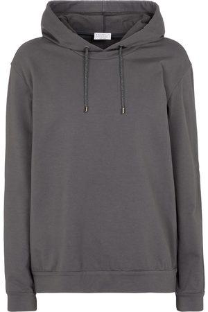 Brunello Cucinelli Women Hoodies - Stretch-cotton hoodie