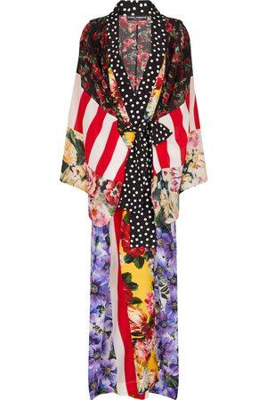 Dolce & Gabbana Women Bathrobes - Printed silk crêpe robe