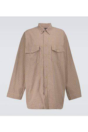 Balenciaga Checked long-sleeved shirt